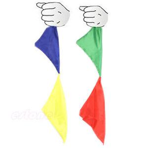 Stage Close Up Magic Trick Prop Color Changing Silk Hanky Diagonal Street Magic