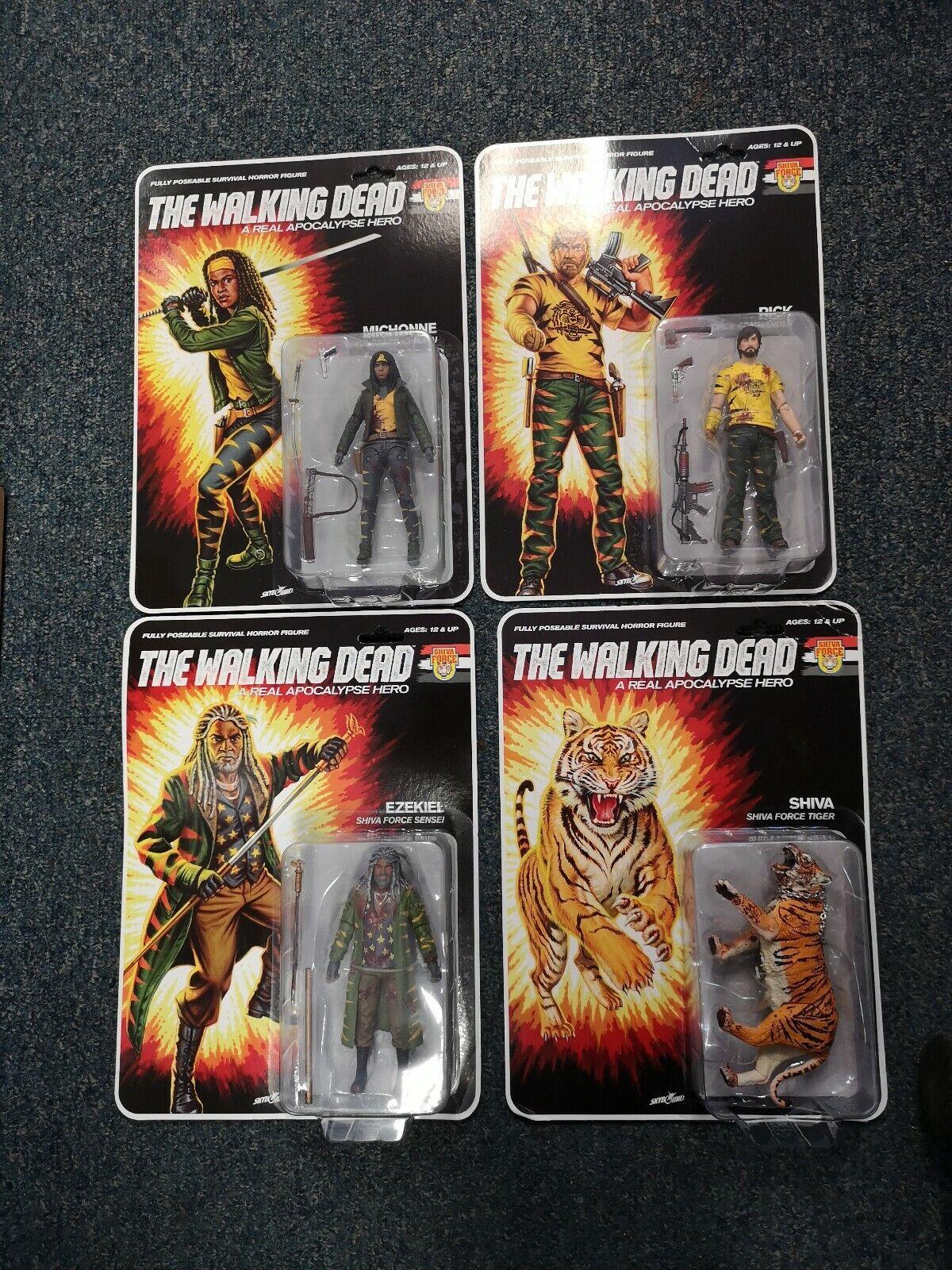 THE WALre DEAD Set di 4 cifra bloody Shiva forza Ezekiel Shiva Rick Michonne
