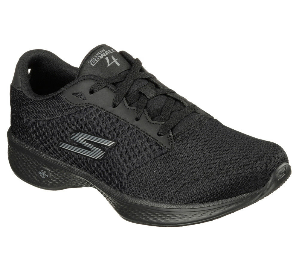 NEU SKECHERS Damen Fitness Sneakers Turnschuh Walking GO WBLK 4 - EXCEED Schwarz