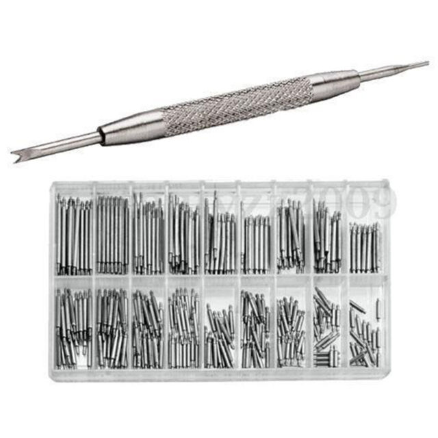 360X 8-25mm Watch Band Spring Bars Metal Strap Link Pins+Remover Repair Tool M&O