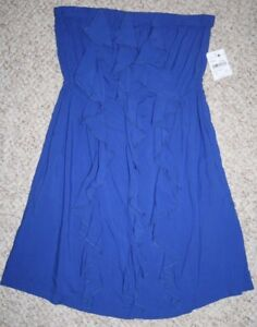 New-Mimi-Chica-Women-039-s-Dress-Strapless-Rayon-Woman-Small-Royal-Blue-NWT-Spring
