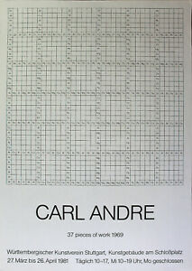 Carl Andre - 37 pieces of work 1969. (1981) esposizione manifesto/offset.