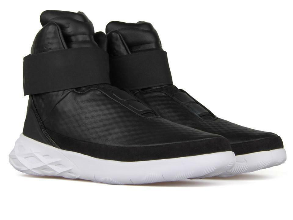 Nike Swoosh Hunter Taille High Top Basketball chaussures noir/blanc Taille Hunter 12 832820-001 8617e0