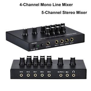 ANLEON-MX400-Audio-Sound-Mono-Line-Stereo-Console-Mixer-Mic-W-Power-Adapter