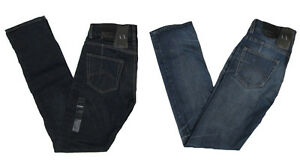 Armani-Exchange-A-X-Mens-J66-Low-Rise-Straight-Leg-Selvedge-Jeans-Pants-New