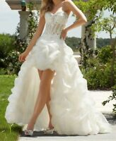 Sexy Strapless High Low Bridal Gown Wedding Dress Stock Size 6-8-10-12-14-16