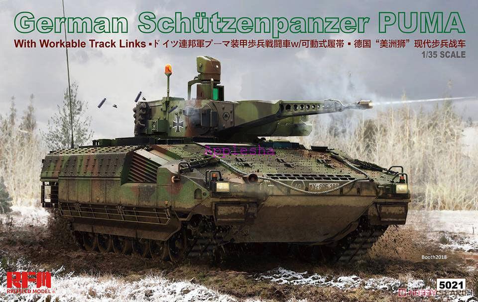 Rye Field RM-5021 1 35 German Schutzenpanzer Puma RFM Model w Full Interior