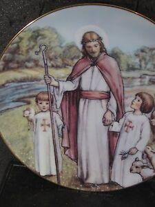 Cicely Mary Barker Beloved Hymns 1990 LOVING SHEPHERD OF THY SHEEP Ltd Ed Plate