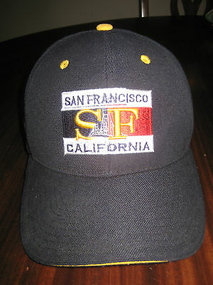 SAN FRANCISCO CITY EMBROIDERY BASEBALL CAP HAT ADJUSTABLE ONE SIZE FITS ALL