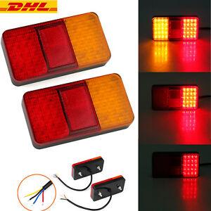 2× LED Rückleuchten Heckleuchten Rücklicht Set Anhänger Wohnwagen Anhängerlicht