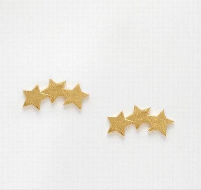 1 Pair Simple Korea 3-Piece-Star Style Lady Stud Club Earrings Jewelry 2 Color