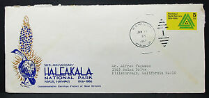 US-Illustrated-Cover-Haleakala-National-Park-Duplex-Stamp-USA-Letter-H-7153