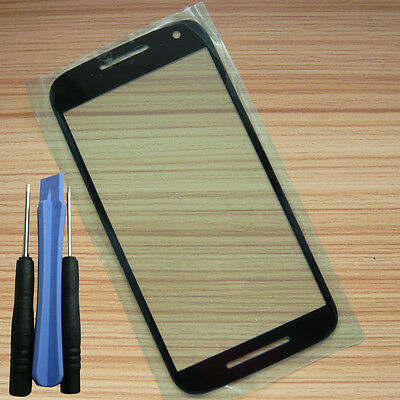 Black Touch Screen Outer Front Glass Lens Repai+Tool For Motorola Moto G3 XT1540