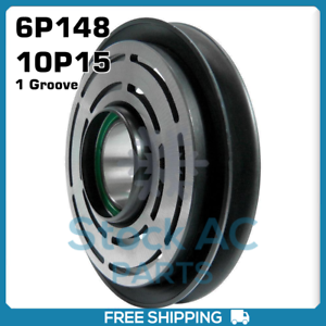 Details about BRAND NEW A/C Compressor Pulley Denso 6P148, 10P15 - 1 Groove  QR