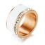 Indexbild 9 - EDELSTAHL Ring STRASS silber rose gold Keramik Fingerring weiß DELUXE + AUSWAHL