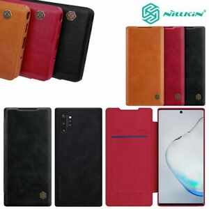 For-Samsung-Galaxy-Note-20-10-S20-100-Genuine-NILLKIN-Leather-Wallet-Case-Cover