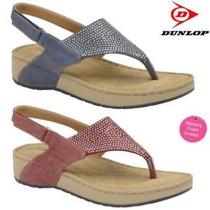 Ladies-Memory-Foam-Wedge-Heel-Walking-Fit-Flip-Flops-Fitness-Toning-Sandals-Shoe