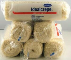 6-x-HARTMANN-Hospital-Weight-IDEAL-Crepe-Bandages-15cm-x-1-6m-Individual-Packs