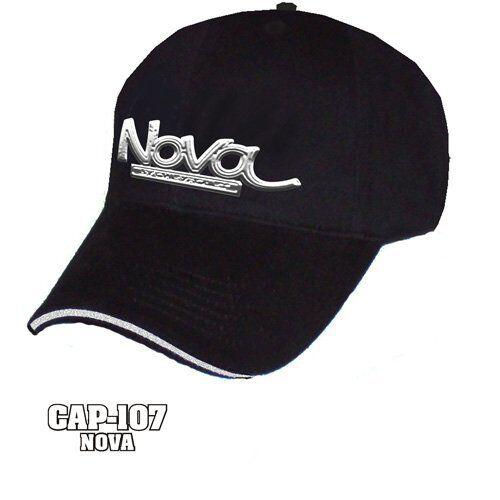 New Black Chevy Nova Hat Logo Emblem Liquid Metal Hat Nova Cap Chevrolet SS Classic 999f93