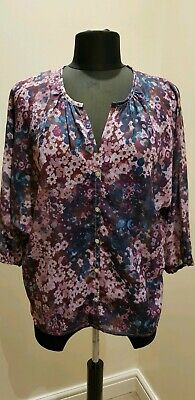 BNWT Floryday White Floral Lace Shirt Blouse Tunic Top Long Sleeves Large L