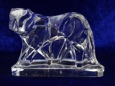 Baccarat Crystal Art Deco Tiger Figurine Designed By Georges Chevalier Ebay