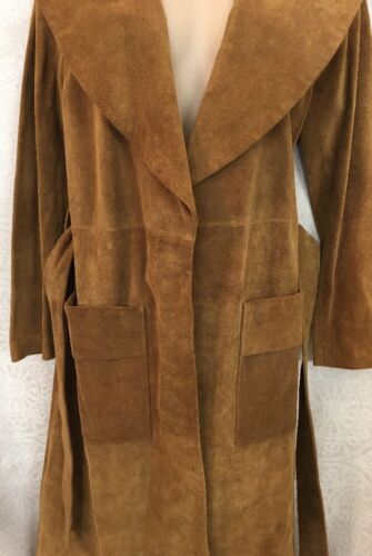 Beige quarter Suede Wrap Length Leather Three Size Small Trenchcoat Frame BnqYT5wY