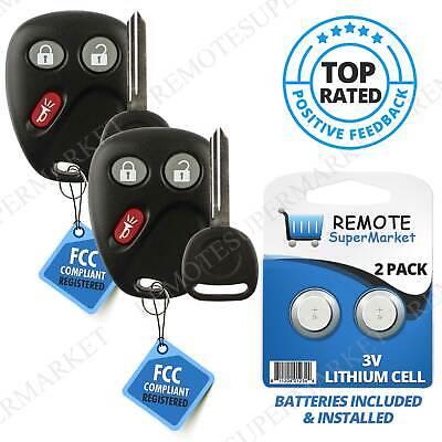 2 Replacement for GMC 2007-2016 Sierra 2007-2015 Yukon Remote Key Fob Entry 4B