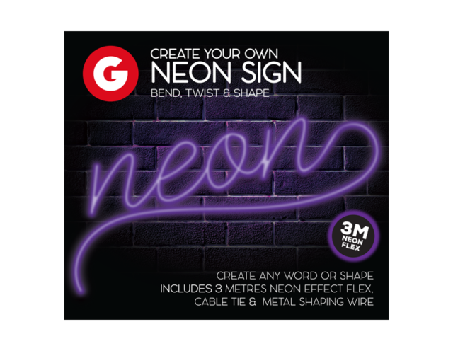 Make Your Own Neon Sign Create 3M String Light Message Kit Party Birthday