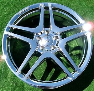 Details About 4 New Chrome Oem Forged Amg Mercedes Benz S65 20 Inch Wheels S550 S63 Cl550 Cl63