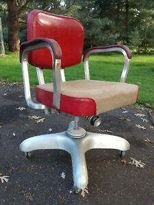 Art deco office chair Revolving Image Is Loading Artdecometalofficechaircorrectseatingvintage Ebay Art Deco Metal Office Chair Correct Seating Vintage Industrial Ebay