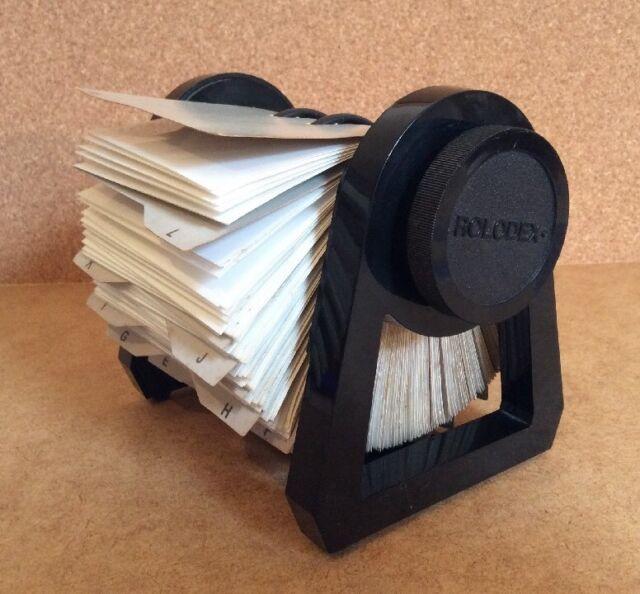 VINTAGE ROLEDEX RBC-400 Business Cards Home Office Storage Organizer Desk File