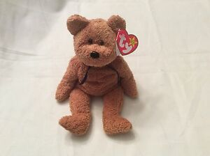 TY Beanie Baby Very Rare (FUZZ) original 1998 collectible with Tag Errors.