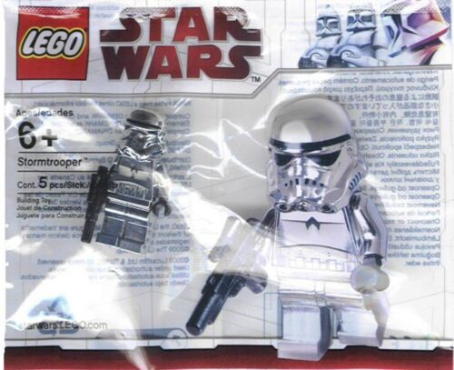 LEGO Star Wars Chrome Stormtrooper Minifigure 4591726 NEW Sealed Polybag
