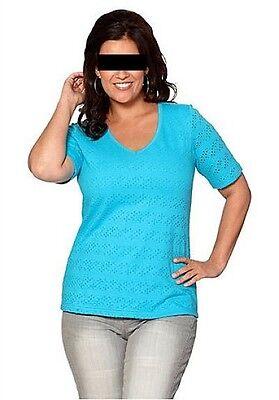 Sheego Longshirt T-Shirt Türkis große Größe Übergröße Gr 40/42, 44/46, 52/54 NEU