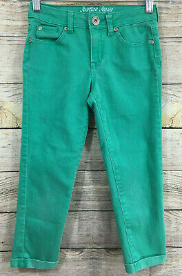 Girls' Formal Occasion Analytical Justice Jeans Girls Size 12s Pants Green Denim Clothing, Shoes & Accessories