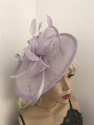 Lilla Lavanda Fascinator Con Piattino Cappello Matrimonio Hatinator Formale Donna Ovale A Disco- Giada Bianca