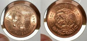 1959-MEXICO-50-CENTAVOS-CHOICE-UNC-GEM-RED-COIN