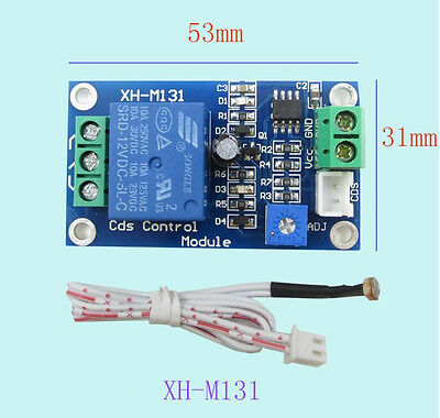 12V Car Light Control Switch Photoresistor Relay Module Detection Sensor mw us