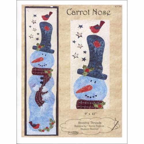 "Carrot Nose Pattern By Kreative Threads-Wall Hanging-Snowman-9/"" x 41/"""
