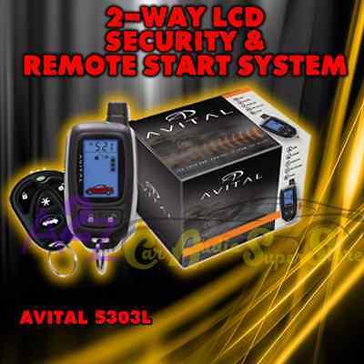 details about avital 5303l 2-way car alarm system remote start keyless  system