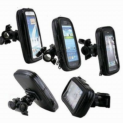 Bike Bicycle Waterproof Bag Pouch Phone Case Cover Handlebar Mount Holder Cradle
