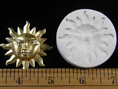 #MD1477 Sun Face Open Eyes Polymer Clay Mold