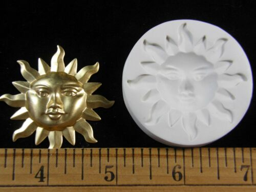 Polymer Clay Mold #MD1259 Large Sun Face