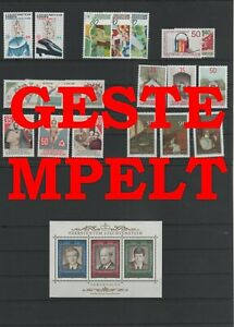 Liechtenstein-Vintage-Yearset-1988-Timbres-Used-Complet-Plus-Sh-Boutique