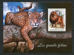 Guinee-2018-grands-chats-Leopard-Lion-SOUVENIR-SHEET-Comme-neuf-NH