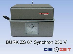 Stempeluhr-KIENZLE-BURK-ZS-67-Syn-mit-Garantie