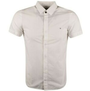 BNWT-STONE-ISLAND-short-Sleeve-Shirt-White-Mens-LARGE
