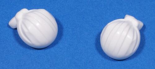 e7 Lego Pirates 2 X Casquette Blanc Rond//Rag Wrap Extrémité Arrondie Top//18927 NEUF