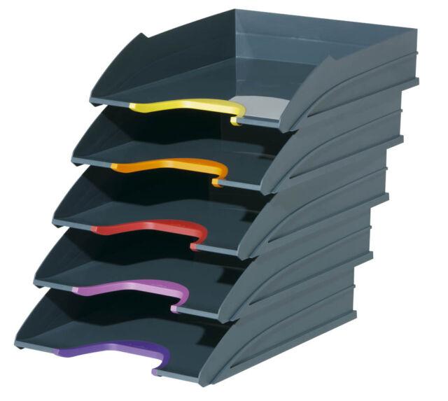 DURABLE Briefablagen VARICOLOR® TRAY SET dunkelgrau C4 - 5er Set