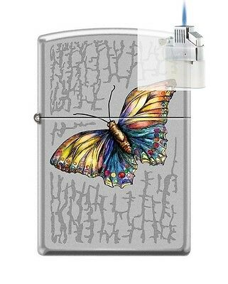 Zippo 0236 prism rainbow triangle Lighter /& Z-PLUS INSERT BUNDLE